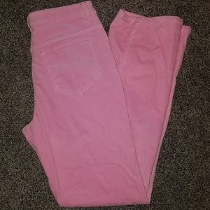 Pink light weight cords pants size 10